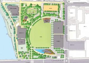 旧広島市民球場跡地整備(平面図)