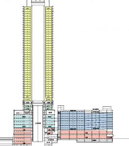 西棟は免震構造を導入しました。