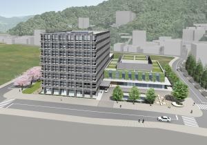 広島駅北側の二葉の里地区に整備される予定の高精度放射線治療センター