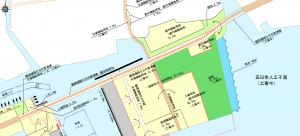 商工センター西詰からはつかいち大橋東詰交差点まで4車線化されます。