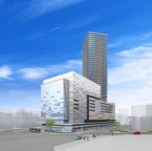 権利変換計画が認可された広島駅前Cブロックの完成予想図