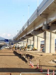 急ピッチで整備が進む広島高速3号線(江波地区)
