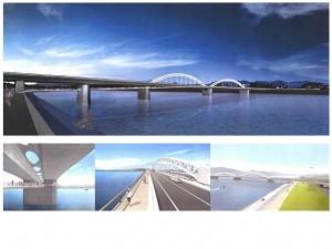 3月23日に開通する太田川大橋のイメージ