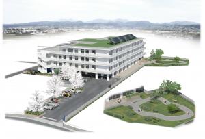 口田南に開設予定の特別養護老人ホームくちた園のイメージ