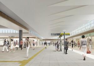 広島駅自由通路の完成イメージ図