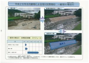 河川災害復旧のスケジュール