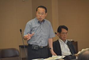 総務委員会で放射線影響研究所の移転についてとりあげる若林新三議員