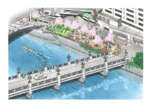 広島駅前の猿猴川を美しい川として再整備します