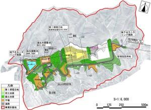 恵下埋立地の整備計画図(第Ⅰ期)