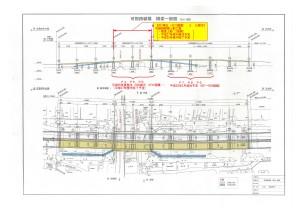 2015年度補正で可部バイパスの跨線橋工事に2億円が予算化されました。